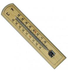 Sobni leseni termometer